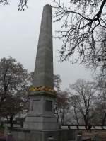 01 Uber Wien nach Mahren/171080/2011-11-17-brno-denisparkobelisk-fuer-kaiser-franz 2011-11-17  Brno Denispark  Obelisk für Kaiser Franz I. (1818)