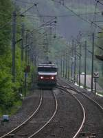 Vogesenquerung Strasbourg-Saverne-Nancy_Metz/84088/bb15039-fuehrt-den-schnellzug-corail1607-paris1645-strasbourg2101 BB15039 führt den Schnellzug Corail1607 (Paris16:45-Strasbourg21:01) durch die Vogesen Richtung Saverne. Hier für die Freunde großformatiger Loks die Lok beim Überfahren der Gleiswechselstelle. 05.06.2007 beim Tunnel Rheinthal